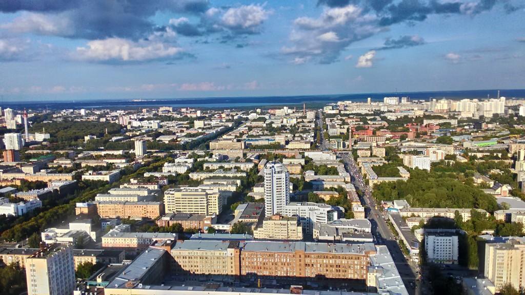 """Вид на Екатеринбург с небоскреба """"Высоцкий"""""""