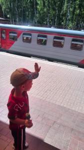 Детская железная дорога в Новомосковске Тульской области