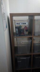 Бесплатная еда на кухне хостела в Великобритании